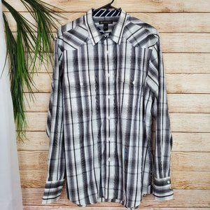 INC Mens Long Sleeve Button Up Size XL